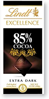Lindt Master Chocolatier Excellence Cocoa Dark, 85 %, 3.5-Ounce (Pack 12)