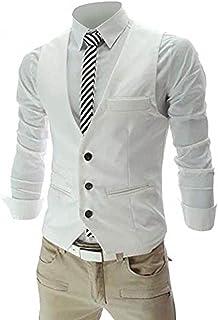 Zicac Men's Top Designed Casual Slim Fit Skinny Dress Vest Waistcoat