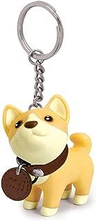 Toy Innovation Dog Keychain Charms, Shiba Inu Key Ring Cute Keychains Car Key Chain for Kids Adults