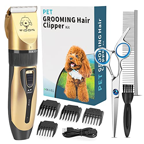 YIDON Dog Clippers, Professional Dog Grooming Clippers Kit Low Noise,...