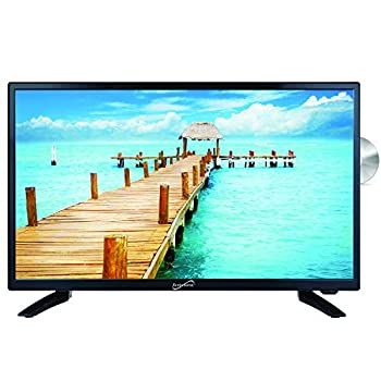 SuperSonic SC-2412 LED Widescreen HDTV & Monitor 24  Built-in DVD Player with HDMI USB SD & AC/DC Input  DVD/CD/CDR High Resolution and Digital Noise Reduction