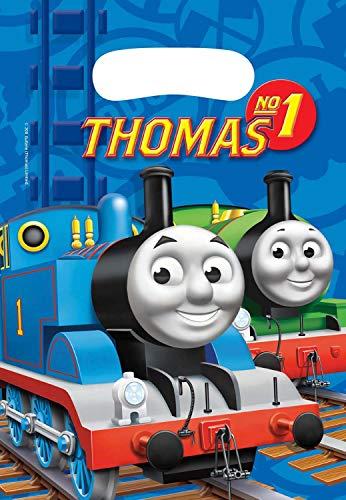 Amscan 552162 - Partytüten Thomas und seine Freunde, 6 Stück, 23 x 16 cm, Mitgebsel, Kindergeburtstag