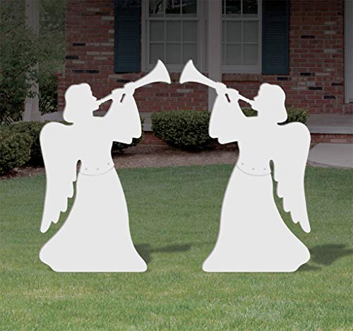 Christmas Outdoor 2 Piece Nativity Angel Set
