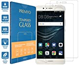 PREMYO 2 Piezas Cristal Templado Protector de Pantalla Compatible con Huawei P9 Lite Dureza 9H Bordes 2,5D Sin Burbujas contra Arañazos