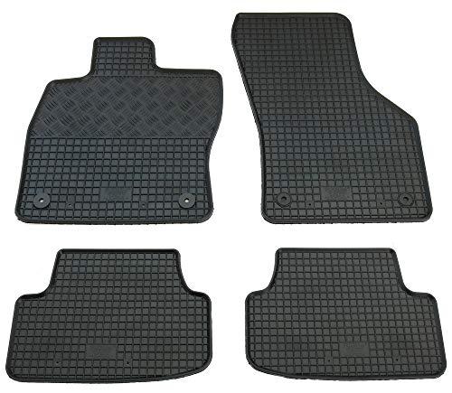4PCE tappetini auto universali-Nero con Red Trim per AUDI A3 SPORTBACK