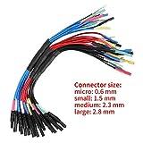 Hantek 6 canales Universal Breakout Leads para Oscilliscope de diagnóstico automotriz 4 tamaños 0.6mm, 1.5mm, 2.3mm y 2.8mm Conjunto de electrodos(HT306)(Negro)