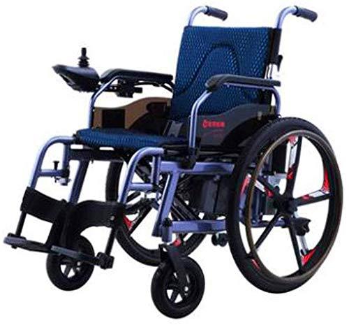 CLOTHES Silla de Ruedas eléctrica, Silla de Ruedas eléctrica de Ancianos discapacitados de Coches de Ancianos automático Inteligente portátil Vespa Plegable de múltiples Funciones,Andador