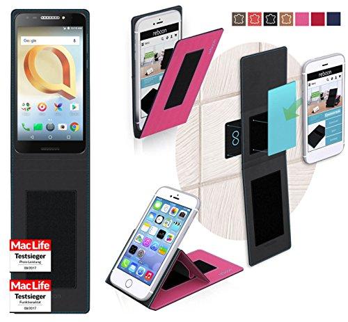 reboon Hülle für Alcatel A30 Plus Tasche Cover Case Bumper | Pink | Testsieger