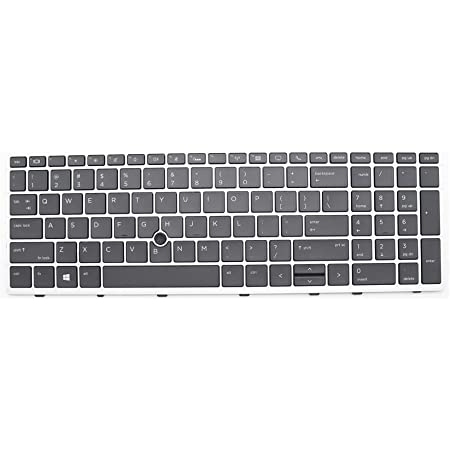 New Replacement Laptop Keyboard Compatible with HP Elitebook 850 g5 855 G5 850 G6 750 G5 755 G5 Zbook 15u G5 US L11999-001 Backlit