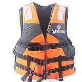 MOKY Unisex Snorkel Vest Swim Float Vest Portable Inflatable Kayak Canoeing Jacket Diving Watersports for Adult Women Men Kids,Orange