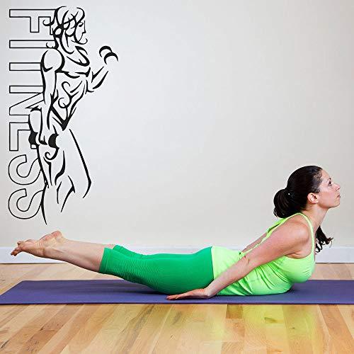 Tianpengyuanshuai Muurtattoo's Muursticker voor de woonkamer Muurschilderingen Ruimte Fitness Meisjes Lichaamsmodus Afneembaar