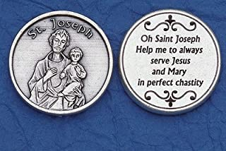 Catholic Prayer Cards St. Joseph Pocket Coin