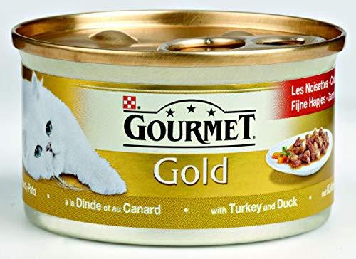 Gourmet gold fijne hapjes kalkoen/eend kattenvoer 85 GR