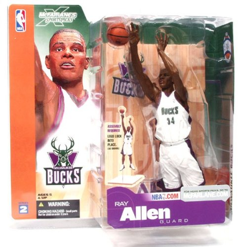 McFarlane NBA Series 2 RAY ALLEN #34 - Milwaukee Bucks Sports Picks Figure