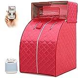 QSCFT Caja de Sauna de Vapor 2L Carpa de Vapor de Sauna portátil SPA Salon Control Remoto de 9 Niveles para Oficina en casa