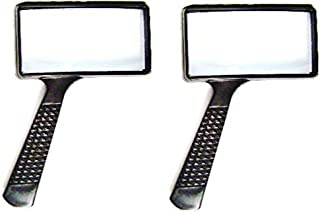 MAGNIFYING GLASS 4x Rectangular Lens -- TWO PACK