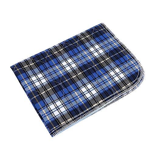 BLLBOO 3PCS Wiederverwendbare Waschbar Pad ein absorbierendes Kissen for Erwachsene Inkontinenz Pad Blau Gitter 45 * 60