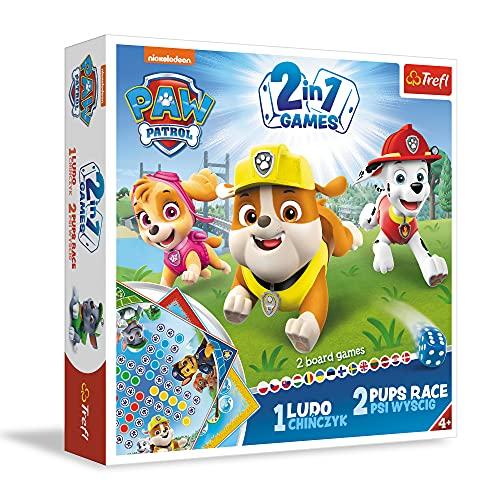 Trefl 01896 Gra, 2W1 Chińczyk, Psi Wyścig Paw Patrol, Viacom Paw Patrol 01896