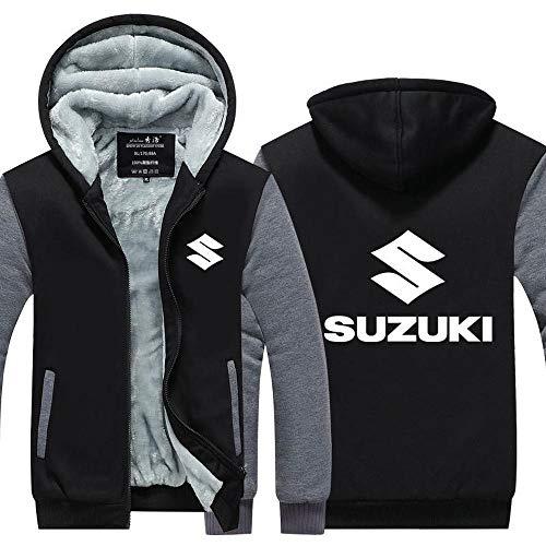 Outwear Unisex con Capucha De La Chaqueta - Yamaha Suzuki Impreso Suéter Caliente Escudo - Zip Uniforme De Béisbol De Empalme Manga Larga Suéter-Adolescente Regalo E-XXL