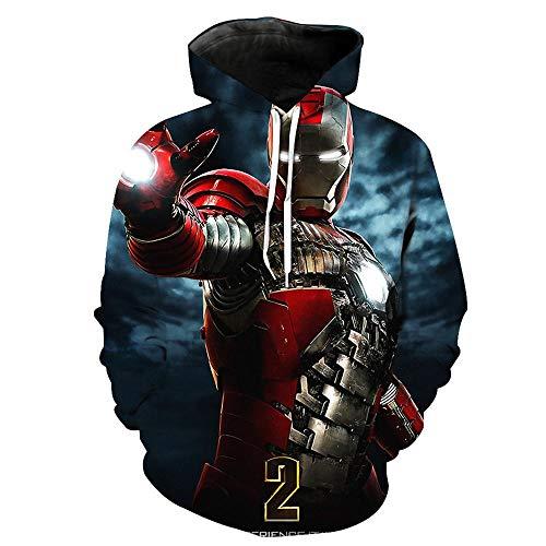 Sudadera con Capucha Iron Man para Hombre Avengers Infinity War Sudadera con Capucha Endgame MCU Movie Superhero Team Thanos Iron Man Hulk Capitán América A-Mediu