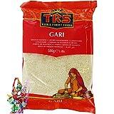 [ 10 x 500g ] TRS Grobes Maniokmehl GARI/Cassava Mehl/Kassava Mehl/glutenfrei + ein kleines Glückspüppchen - Holzpüppchen