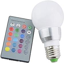GHC LED Gloeilampen 1Pack LED BLIB AC 85-265V E27 E14 RGB Kleur Verwisselbare Magic RGB LED-lamp Spotlight + IR-afstandsbe...