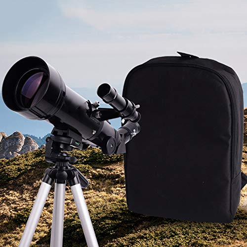 D&M National Geographic Telescope,70mm Aperture 400mm AZ Mount Astronomical Refracting,Smartphone Adapter,with Clear Weak Light Vision,Backpack and Moon Filter