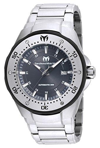 Technomarine 'manta de los hombres automático reloj Casual acero inoxidable, color: silver-toned...