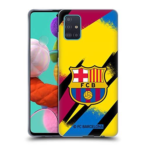 Head Case Designs Offizielle FC Barcelona Third Torwart 2019/20 KAMM KIT Soft Gel Huelle kompatibel mit Samsung Galaxy A51 (2019)