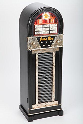 point home Design-Schrank Jukebox, Retro, schwarz, 88cm