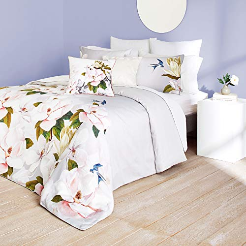 Ted Baker Opal Cotton 3 Piece Comforter Set with Shams, King, Grey