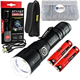 klarus XT11GT Tactical Rechargeable Flashlight CREE XHP35 HD E4 LED 2000 Lumens Bundle with an Extra 3100 mAh 18650 Battery and Lightjunction Battery Case