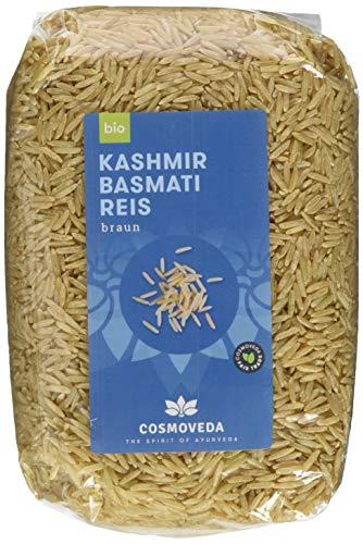 Cosmoveda Kashmir Basmati Reis braun, 3er Pack (3 x 500 g)