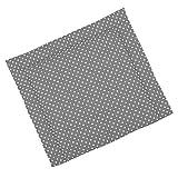 Sugarapple Wickelauflage 80x75 cm, ca. 3 cm dick mit Oberstoff aus 100% Baumwolle, innen weich und warm wattiert, doppelt abgesteppte Nhte und machinenwaschbar, Grau Punkte wei