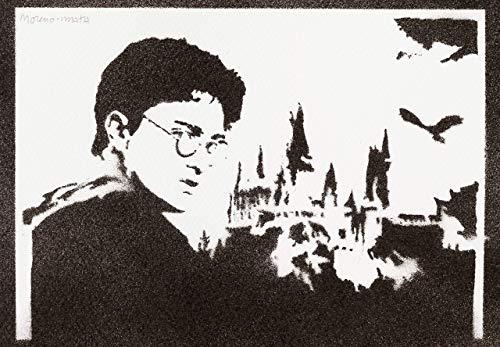 Harry Potter Poster Plakat Handmade Graffiti Street Art - Artwork