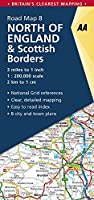 Aa North of England & Scottish Borders Road Map (Aa Road Map Britain)