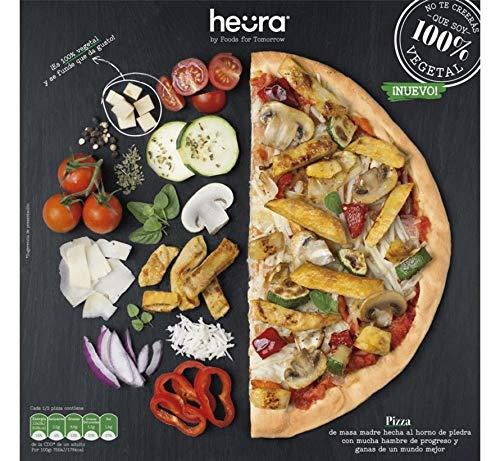 Pizza Vegana Heura 2x 355 gr  100% Vegetal   Sin Gluten   Plant Based   Sin Gluten   Sin Soja   Vegano