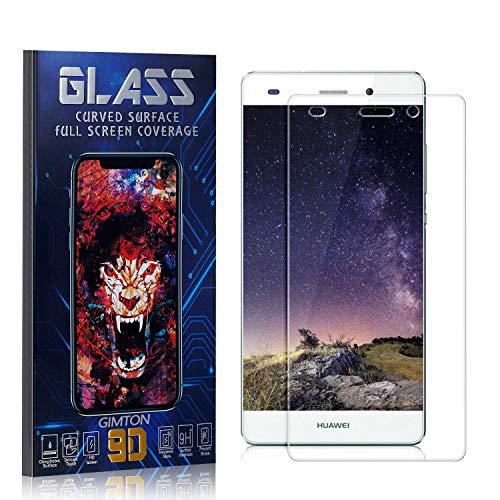 GIMTON Displayschutzfolie für Huawei P8 Lite 2015 / Huawei P8 Lite 2016, 3D Touch, Anti Kratzen, Keine Luftblasen Premium Displayschutz Schutzfolie für Huawei P8 Lite 2015 / P8 Lite 2016, 2 Stück