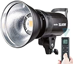 Godox SL-60W CRI95+ White Version LED Video Light, 5600K Version 60W Bowens Mount + Remote Controller + Reflector for Video Recording, Children Photography, Wedding, Outdoor Shooting