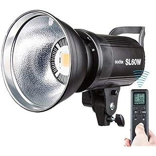 【日本正規代理店/1年保証/PSE認証済み】Godox SL-60W ビデオカメラ ライト5600±300K Bowens LED電球 ビデオライト ワイヤレスコントロール スタジオ撮影ライト