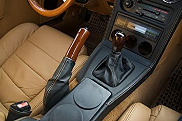 Black Alcantara-Blue Thread RedlineGoods Center Console Cover Compatible with Mazda Miata NA 1990-97