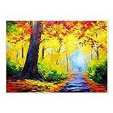 JHGJHK Cuadro de Arte de decoración de Pintura de Paisaje Colorido Abstracto...