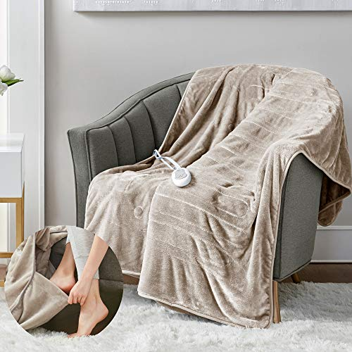 Microplush Electric Blanket with Foot Pocket | Amazon.com