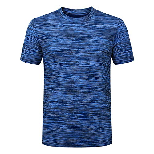 Celucke Sport Funktionsshirt Laufshirts Herren Sportshirt, Kompression Kurzarm Rundhals Fitness T-Shirt Performance Trainingsshirt Muskelshirt Kompressionsshirt