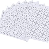 10 Hojas Pegatinas Redondas Imprimibles Etiqueta de Circular Blanco A4 Pegatinas de Precios Redondas, Diámetro de 25 mm, Mate Autoadhesivo Imprimible con Láser o Inyección de Tinta