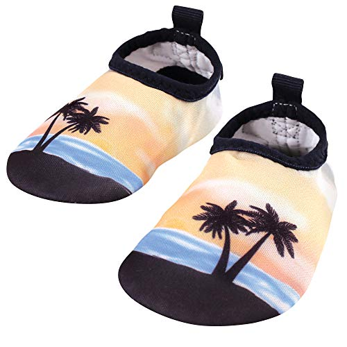 Hudson Baby Unisex-Child Water Shoes for Sports, Yoga, Beach and Outdoors, Baby and Toddler Sunset, 12-18 Months