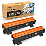 7Magic Compatible Cartucho de Tóner para Brother TN1050 TN 1050 para Brother DCP-1510 DCP-1612W HL-1110 MFC-1810 MFC-1910W HL-1212W HL-1210W DCP-1610W DCP-1512 HL-1112 Impresora(2 Negro)
