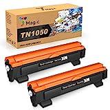 7Magic Compatible Toner pour Brother TN1050 pour Brother HL-1112 HL-1110 HL-1210W HL-1212W MFC-1910W MFC-1810 DCP-1610W DCP-1612W DCP-1510 DCP-1512 imprimantes(2 Noir)