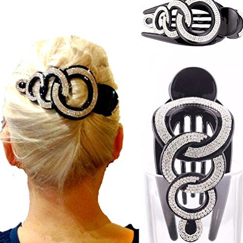 Modische Haarspange für Mädchen von Cuhair, 1 Stück, mit Strasssteinen, Haarklammer, Haar-Accessoire