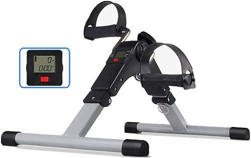 ALXDR Exerciseur De Pédale sous Le Bureau, Mini-Pédale Pliable De Vélo d'exercice pour Bras, Jambes, Thérapie Physique avec Compteur De Calories